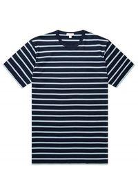 Sunspel - T-shirt à rayures bretonnes - Lyst