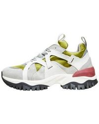SELECTED Amy Trail Trainer Shoes Winter Moss - White