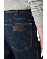 Wrangler S Authentic Texas Slim Jeans für Herren - Blau