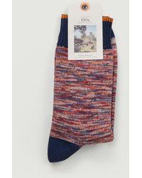 Nudie Jeans Rasmunsson Mottled Socks - Multicolour