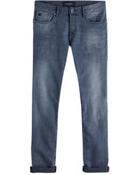 Scotch & Soda Ralston Concrete Bleach Regular Slim Fit Jeans - Bleu