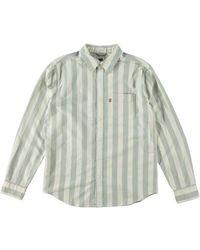 Levi's Camisa de corte estándar Sunset 1 bolsillo para hombre Demantoid Hedge Green Stripe - Verde