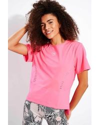 adidas By Stella McCartney T-shirt ample True Strength Rose solaire