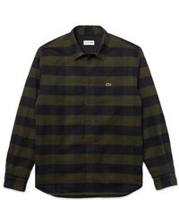 Lacoste Https://www.trouva.com/it/products/-checked-quilted-cotton-flannel-overshirt-shirt-ch-3008-khaki-green - Nero