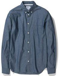 Norse Projects Dunkles Indigo Anton Chambray Shirt - Blau