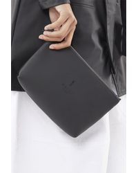 Rains Black Polyester And Polyurethane Cosmetic Bag