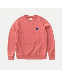 Nudie Jeans Melvin Njco Circle Dusty Red Sweater - Rojo