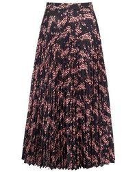 Markus Lupfer Hailey Pleated Ditsy Blossom Skirt - Multicolor