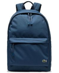 Lacoste Neocroc Canvas Backpack Nh 2677 Ne Blue