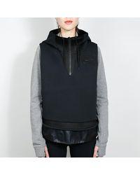 Nike Black / Black Mixed Material Women`s Vest