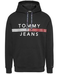 Tommy Hilfiger Tommy Jeans Capucha Bandera Reflectante Negro