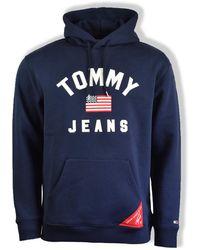 Tommy Hilfiger Sudadera con capucha negra Iris Americana - Azul