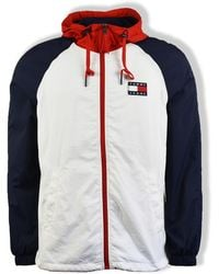 Tommy Hilfiger - Giacca Tommy Jeans con cerniera multi color block - Lyst