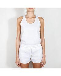 Nike Pagliaccetto da donna bianco e betulla Heather