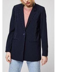 Minimum Navy Striped Blazer - Blue