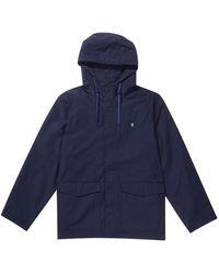 Farah Navy Higgs Hooded Jacket True - Blue