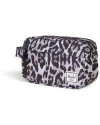 Herschel Supply Co. Bolsa de viaje del capítulo de leopardo de las nieves - Gris