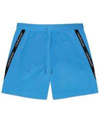 Calvin Klein Diagonal Tape Medium Swim Shorts - Multicolor