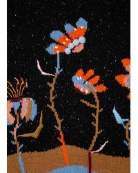 Paul Smith Suéter relajado en intarsia negro 'Woodblock Floral' para mujer
