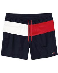 Tommy Hilfiger Shorts de baño color block azul marino
