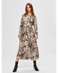 SELECTED Uri Florenta Pattern Ankle Dress - Multicolour