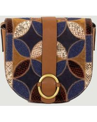 Sessun Tessao Patch Handbag - Blue