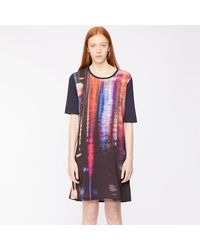 Paul Smith - Print Jersey Kleid 25 Aus - Lyst