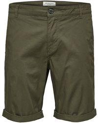 SELECTED Deep Depths Green Paris Shorts Regular Fit