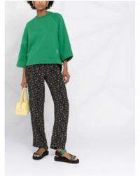 Ganni Floral Print Trousers - Black