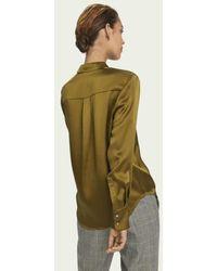 Maison Scotch Masion Scotch Silk Long Sleeve Shirt Olive - Green