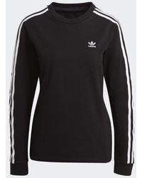 adidas T-shirt noir à manches longues Adicolor Classics
