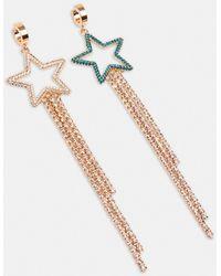 Essentiel Antwerp Long Gold-tone Star Earrings - Multicolour