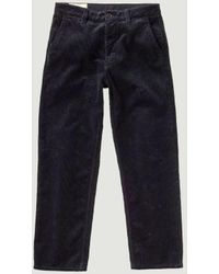 Nudie Jeans Lazy Leo Cord Trousers - Blue