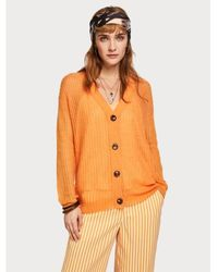 Maison Scotch Https://www.trouva.com/it/products/maison-scotch-sweet-orange-wool-knit-cardigan - Arancione