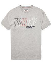 Tommy Hilfiger Tommy Jeans Block Logo Camiseta Gris