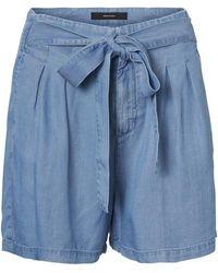 Vero Moda Lyocell-Shorts - Blau