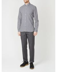 Oliver Spencer - Camicia con etichetta Clerkenwell in Thorndon Blue - Lyst