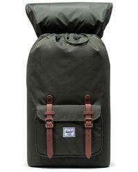 Herschel Supply Co. Zaino Little America Dark Olive e Saddle Brown 10014-03011 - Verde