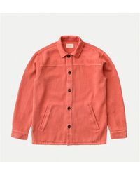 Nudie Jeans Elias Twill Overshirt Dusty Red - Multicolour