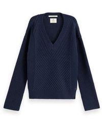 Maison Scotch Chunky Knit Rib Night - Bleu