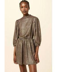 Sessun Ruby Goldchecks Dress - Brown