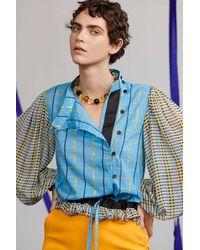 Stine Goya Collar Amarillo Pimiento - Azul