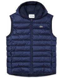 Lacoste Bh 1552 Padded Gilet Navy - Blue