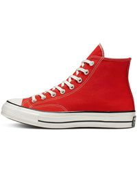 Converse 70 Vintage Chuck zapatillas altas de lona - Rojo