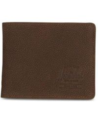 Herschel Supply Co. Portafoglio sottile in pelle Bluetooth Roy Leather + Pebbled marrone