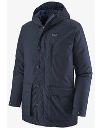 Patagonia New Navy Mens Maple Grove Down Parka - Blue