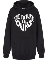 Markus Lupfer The Future Is Ours Over Sized Erin Sudadera con capucha - Negro