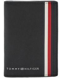 Tommy Hilfiger Cartera fina plegable negra - Negro