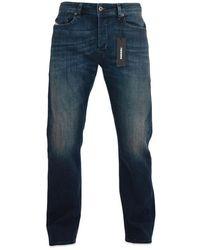 DIESEL Jeans dritti Waykee 814 W blu scuro