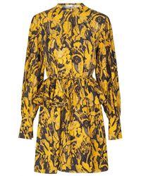 Stine Goya Vestido Lenita Sostenible Amarillo Antiguo
